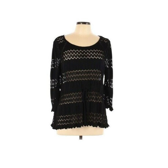 Free People Lace 3/4 Sleeve Tie Waist Cover Up